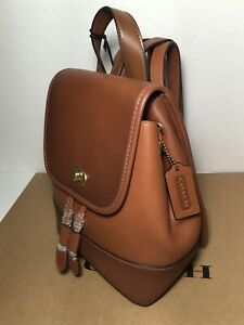 NWT Coach 3334 Turnlock Backpack in 1941 Saddle Glovetanned Leather