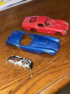 REVELL-VINTAGE 1/32 SCALE Slot Car Body Parts….AC cobra, Corvette, Ferrari.