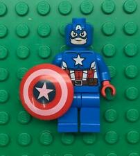 Lego Captain America Minifig lot: Super Hero Figure 76017 blue suit tan belt