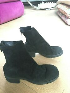AUTHENTIC Black Guidi Chelsea Boots 38 Size Womens Pre owned