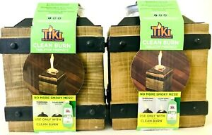2 Tiki Clean Burn Tabletop Firepiece No Smokey Mess Use With Clean Burn Fuel