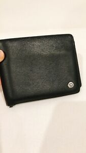 Authentic Montblanc wallet in black Bovine leather