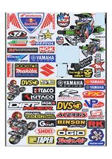 SET 4 x Sheets Stickers Decal MotocrossMotorcycle Car ATV Racing Bike Helmet #6