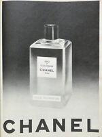 PUBLICITÉ DE PRESSE 1957 EAU DE COLOGNE CHANEL PARIS POUR MONSIEUR