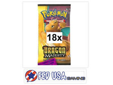Dragon Majesty 18 Booster Pack Lot 1/2 Booster Box Pokemon TCG