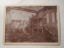 Havelberg - am 4.6. 1904 - Rückseite eines Hauses mit Garten / großes KAB