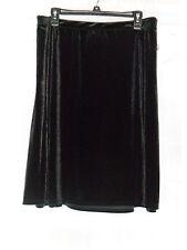 Jaclyn Smith Women's plus Velour Seamed Skirt Black Size: 2X New