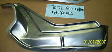 Pontiac GTO Trunk Filler Dropoff Waterfall Panel Right Made in USA - 1970-1972