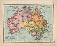 1934 MAP ~ COMMONWEALTH OF AUSTRALIA ~ TASMANIA QUEENSLAND VICTORIA