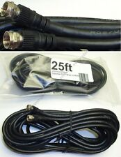 Lot2 25ft RG6 75ohm Coax/Coaxial TV/Satellite/Cable/Digital/HDTV Cord/Wire$SHdis