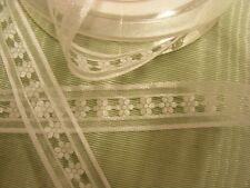 Organza White Flower Ribbon 15mm x 10mts