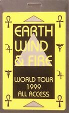 ** EARTH WIND & FIRE ** ALL ACCESS LAMINATED BACKSTAGE PASS 1999 World Tour MINT