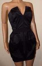 VICKY MARTIN corset diamante strapless cleavage black mini dress 10 12 BNWTparty