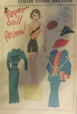Blondie Sunday by Chic Young from 11/18/1934 Rare Paper Doll Full Page Size !