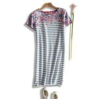 NEW EX JOULES UK SIZE 16 18  RIVIERA STRIPE FLORAL JERSEY TUNIC DRESS
