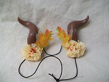 Woodland Fairy Horns Harvest Faun Minotaur Goat Fantasy Mythical Forest Goddess