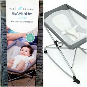 Go With Me Portable Infant Bassinet Rocker with carry bag GRAY