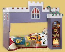 Children's Castle House Bunk / Loft Twin Bed Woodworking Plans (Instructions)