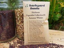 HEIRLOOM Vegetable Seeds: Collection #1 Autumn/Winter, 15 varieties