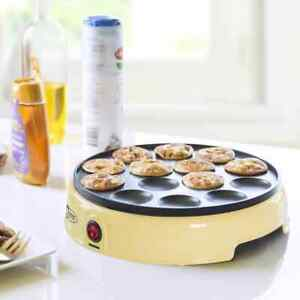 Bestron Poffertjes Maker Holländisch 800W Creme Mini Pfannkuchen Automat Maker