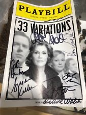 JANE FONDA SIGNED 33 VARIATIONS PLAYBILL THEATER BROADWAY
