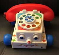 Vintage Fisher Price Classic Chatter Phone Pull Along Kids Toy 1985 FREE SHIP