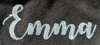 Hot-Fix Iron-On Name Glitter Personalized T shirt Christmas Clothes Custom