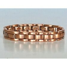 8.5 IN COPPER  MAGNETIC BRACELET NICE DESIGN WITH MAGNET IN EVERY LINK NEW 6452