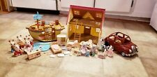 Calico Critters Lot Cozy Cottage - Boat PlayGround - Car - Critters - Furniture
