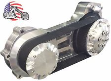 """Ultima Polished 2"""" Open Belt Drive Primary Late Model 07-16 Harley Softail Dyna"""
