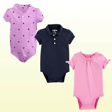 Oshkosh Bgosh Baby Girls Bodysuit Short Sleeve Jersey Top...