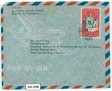COLOMBIA - POSTAL HISTORY  -  AIRMAIL COVER to HAITI - 1962 - LINCOLN