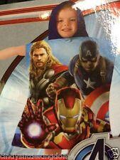 Nuevo Marvel Avengers Boys Playa Baño Vacaciones Poncho Toalla 50 X 115cm