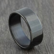 8mm Stainless Steel Gold Silver Black Wedding Band - Mens & Womens Ring - L to Y