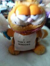 """Vtg 80s 1978-1981 Dakin I Dont Do Windows Garfield 8"""" Plush Tags Stuffed Animal"""