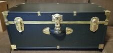 Vintage SEWARD Travel Trunk Storage Chest, Coffee Table  30x16x12 Black/Gold