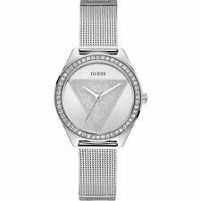 Guess Tri Glitz Crystal Silver Dial Ladies Watch W1142L1