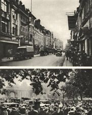 LONDON. New Bond Street and Hyde Park on Ascot Sunday 1926 old vintage print