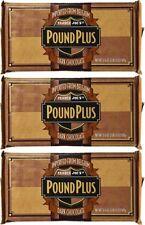 LOT 3 HUGE TRADER JOE'S BELGIUM POUND PLUS  DARK CHOCOLATE BAR 1 POUND EACH