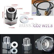 Aquarium Chrome Carbon Dioxide CO2 Regulating  Cylinder Adapter + Sealing Ring