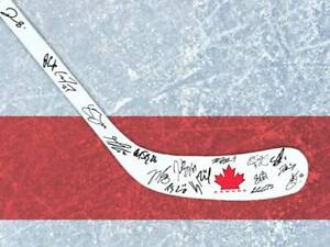 Team Canada signed ice hockey stick - winners of the 2014 Winter Olympics