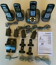 Panasonic KX-TG6431 + 4 KX-TGA641 Handsets/Home/Office Phone Complete Systm;used