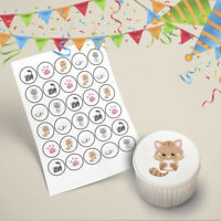30x Kittens Cupcake Toppers Edible Icing Printed Images Pre Cut 35mm