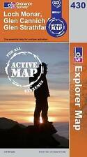 Loch Monar, Glen Cannich and Glen Strathfa- OS Explorer ACTIVE Map 430(NEW 2007)