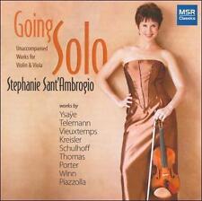 Stephanie Sant'Ambrogio, Going Solo: Unaccompanied Works for Violin & Viola, New