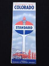 Vintage 1948 COLORADO Standard Oil of Indiana Road Map