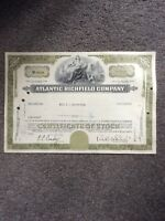 Atlantic Richfield co. Dated 1969 1 shares Invalid  SHARE CERTIFICATE