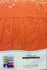 KING SIZE BASE VALANCE Sheet TERRA COTTA lusso POLY COTONE 180 Thread Count