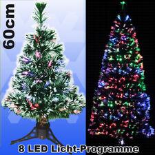 LED Weihnachtsbaum 60 cm Tannenbaum farbwechselnde Glasfaser Fiberoptik xmas