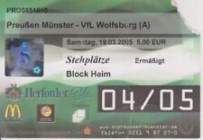 Ticket  SC Preußen Münster - VfL Wolfsburg Am.Regionalliga-Nord - Saison 2004/05
